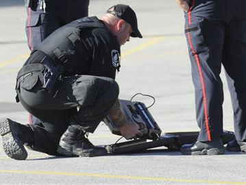 Bomb squad determines suspicious package in Burlington lot was a typewriter