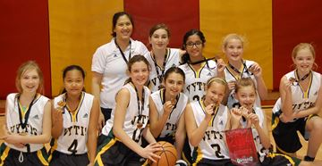 Oakville Vytis U12 girls win Ontario basketball Division 6 gold