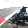 Chinook helicopter visits Fleet Canada Inc.
