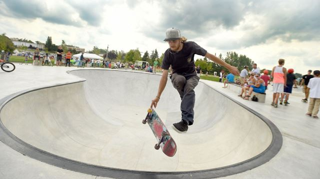 Skateboarders Catch Some Air At New Park In Kitchener