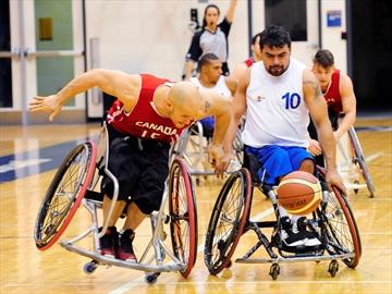 Canada wheelchair Basketball team