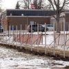 Fence at Ecole Elementaire Pavillon de la Jeuness