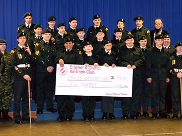 Kinsmen support Stayner cadets