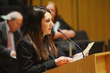 Award winner speaks to council