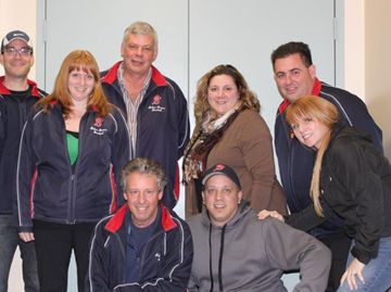 Pictured top row: John Ruta – president, Ted Stamper – House League convener, Laura Boughen – treasurer, Henry Neilson – fundraising , Jenine Lombardi – food and beverage, Carmen Belmonte - VP House League; front: Bill O'Neil – uniforms and sponsorship, Mike Ortolan – registrar and VP Rep/Select, Christine Robinson – secretary. Absent: John Cooke – umpire-in-chief, John Stegeman – tournaments, Adriano Marra – equipment, Kathryn Mifsud – publicity.