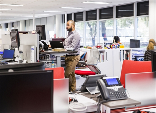 Toyota test driving future office environments for its new for Toyota motor north america inc plano texas