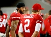 Niners QB Kaepernick refuses to stand for anthem in protest-Image1