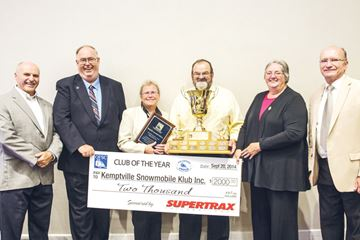 Snowmobile club earns prestigious award