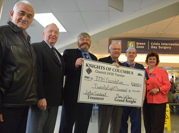 Knights of Columbus donate to TMH