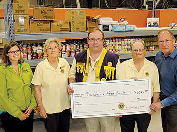 Barrie Food Bank gets boost