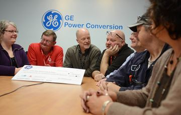 GE cheque to United Way
