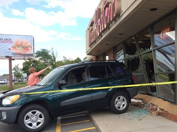 SUV driven into Fourth Avenue Timmies