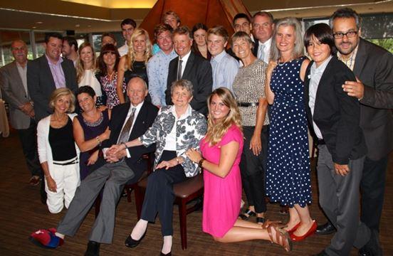 Bill Davis and family