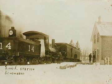 Schomberg and Aurora Railway Station, 1908