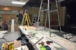 Stage lighting upgrade in Constance Bay