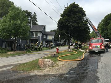 Emergency crews responding to fire on Hidden Valley Road