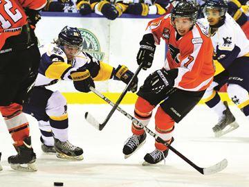 The Orangeville Junior A Flyers lost 4-3 to Whitby on Feb. 11, and continued to face a handful of losses.