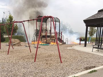 Playground destroyed