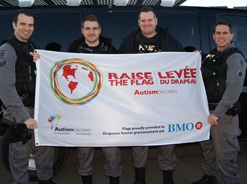Raising the flag for Autism awareness in Oakville and across Halton