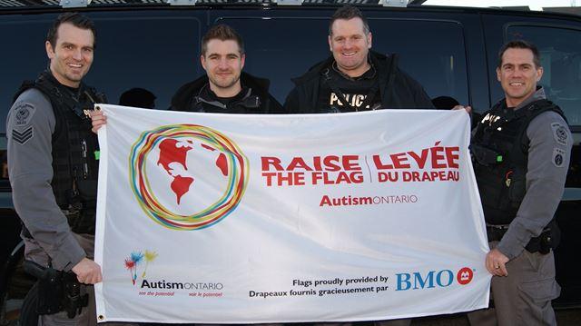 Raising the flag for Autism awareness in Oakville and across Halton