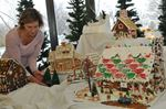 Bakersville Gingerbread Village in Scugog library