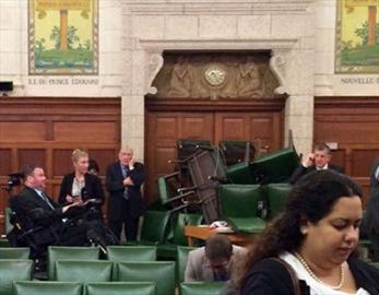 MPs barricade