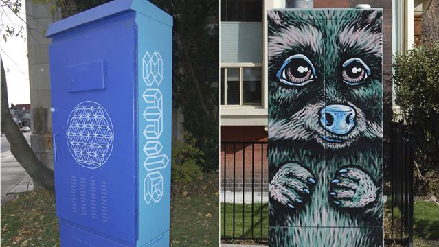 Local artists team up with streetartoronto to create art for Ron dowling home designs