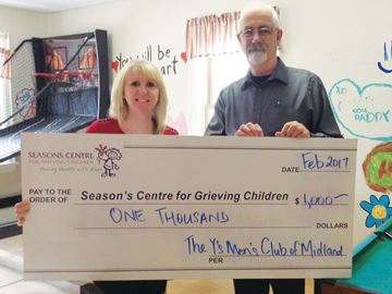 Midland Y's Men's Club supports Seasons Centre