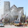 Fire at Aurora United Church