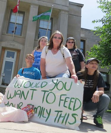 Better Than Food Banks protest - June 20, 2015