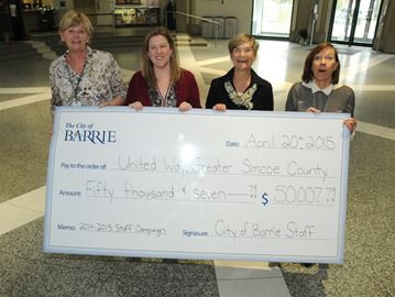 City of Barrie boosts United Way