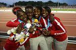 Bronze medal celebration