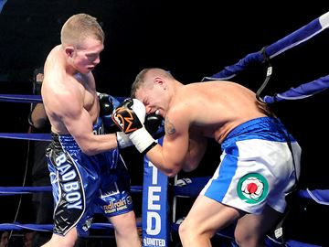 MISSISSAUGA -- Brandon 'Bad Boy' Cook from Ajax won with a dominating performance over Michael Luca Pasqua of Italy during a boxing card at the Hershey Center on Saturday, Nov. 30. Cook improved his record to 12 - 0 with the victory. November 30, 2013.