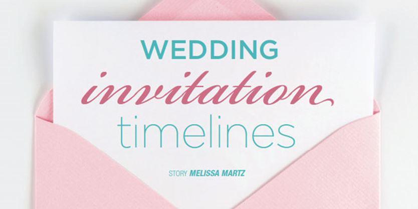 Wedding Rsvp Timeline Etiquette: Wedding Invitation Timelines