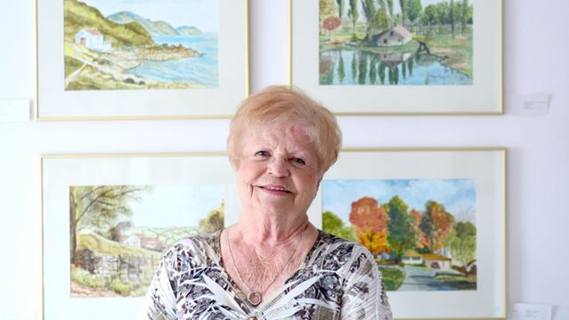 Watercolours fulfill a promise after life