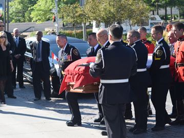 MP Mauril Belanger's funeral