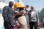 Oakville Olympian Donovan Bailey helps unveil medal podium for Toronto Pan Am Games