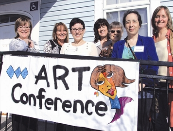 The West Carleton Arts Society held its Spring into Art festival at the Carp Memorial Hall Saturday. The conference and luncheon at the Carp Memorial Hall explored the creation and promotion of art. Organizer Cheryl Poulin (earmark@guidelineict.com) lined up five speakers for the day: Christina Lovisa on Finding Your Fit in the Art World, Hilde Lambrechts, Founding of Figureworks.org