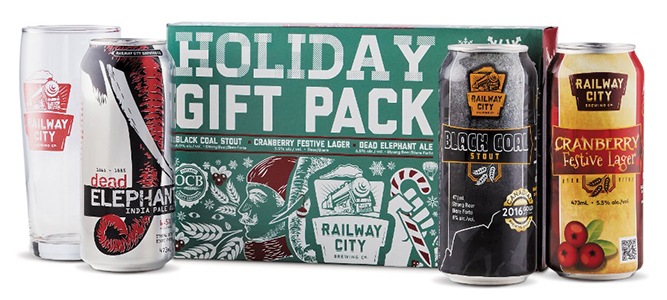 The Railway City Brewing Co Holiday 3-Pack