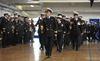 Change of command at HMCS Prevost
