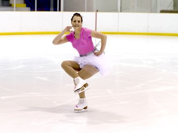 Caitlyn Dodds performs an interpretive skate.