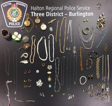 Stolen jewelry recovered in Burlington returned to Hamilton owner