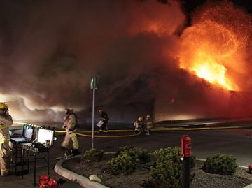 Massive fire wrecks Liquidation World in Welland
