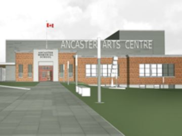 Concept design for the Ancaster Memorial Arts Centre