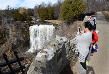 Pop-up parking lots in Greensville are threatening to drive more traffic into the area around Webster Falls, the conservation authority says.