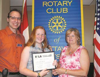 Rotary Club members hear from RYLA program student
