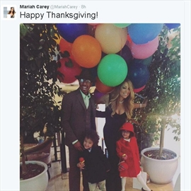 Mariah Carey's family Thanksgiving -Image1