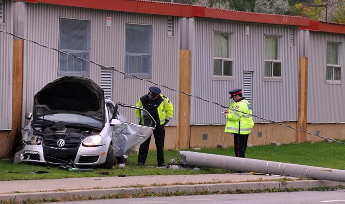 Crash near St. Mary's High School in Kitchener sends three students to hospital