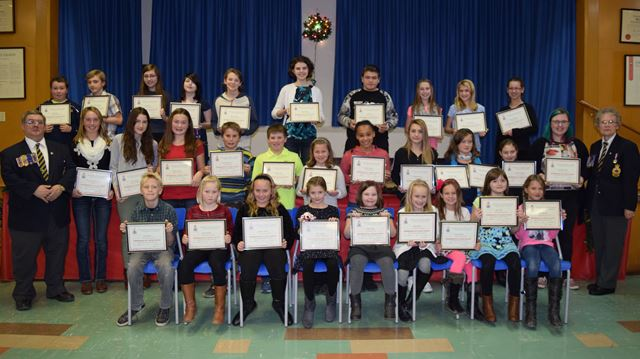 legion honours remembrance day winners