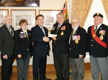 Merrickville Legion Branch 245 receives grant.